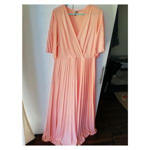 ASOS DESIGN Curve Kimono Pleated Dress